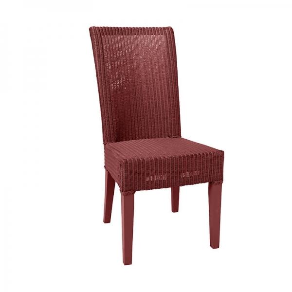 Chaise tressée rouge rubis - Joséphine - 28