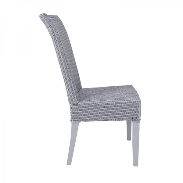 Chaise tressée coloris bleu gris - Joséphine - 11