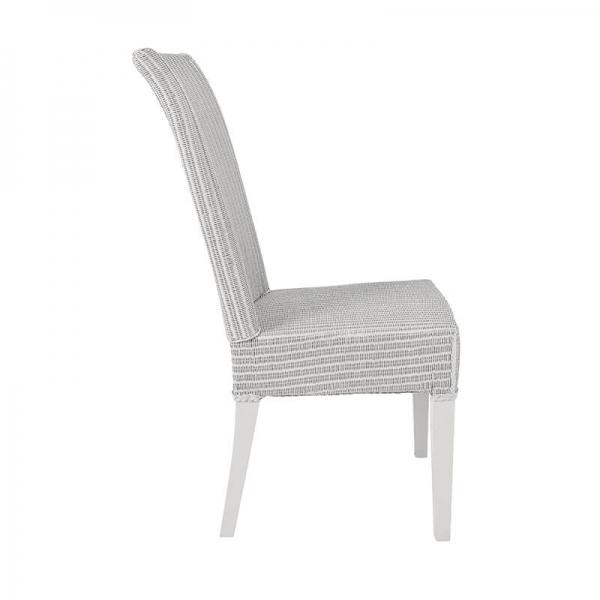 Chaise gris nuage tressée - Joséphine - 32