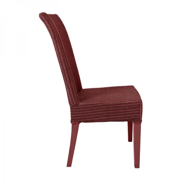 Chaise rouge rubis tressée - Joséphine - 29