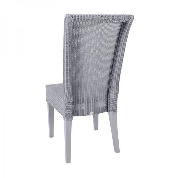 chaise tressée grise - 12
