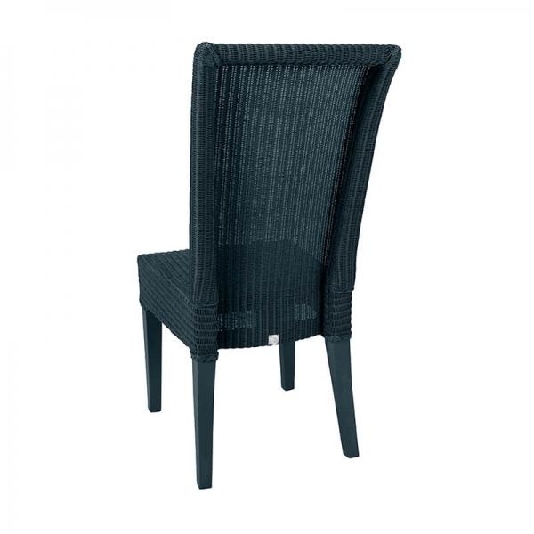 Chaise tressée coloris bleu - Joséphine - 15