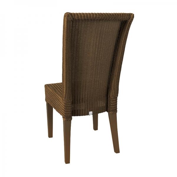 Chaise marron cuivre tressée - Joséphine - 21