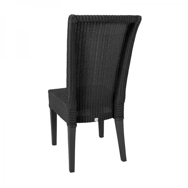 Chaise noire tressée - Joséphine - 18