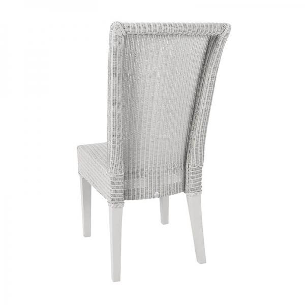 Chaise tressée en loom gris nuage - Joséphine - 33