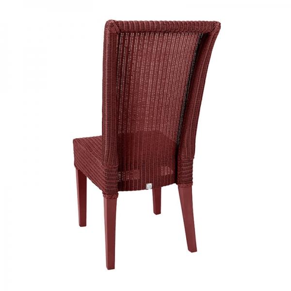 Chaise en loom rouge rubis tressée - Joséphine - 30