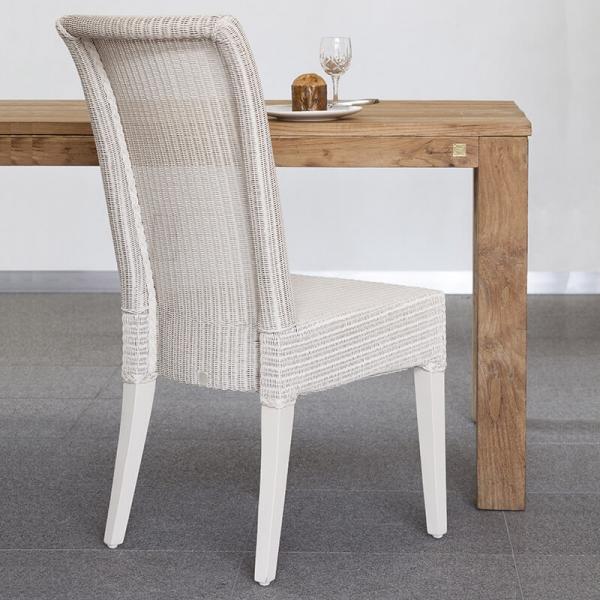 Chaise tressée en loom blanc - Joséphine - 2