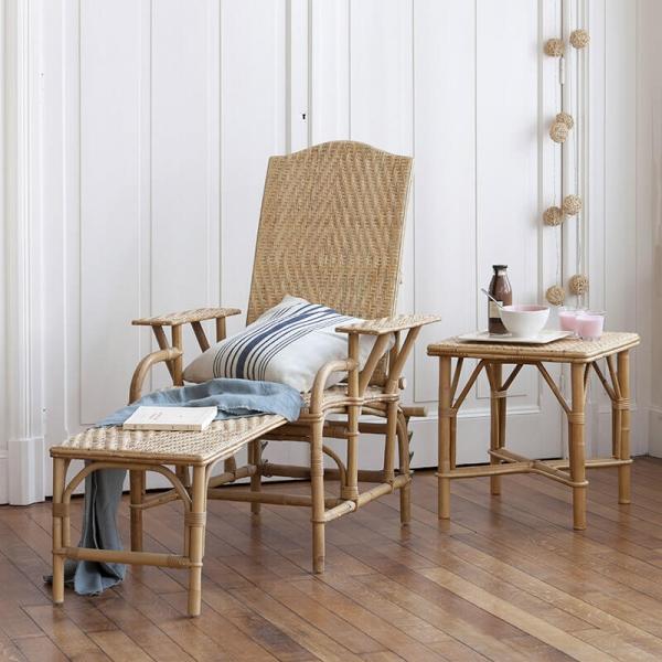 Chaise longue en rotin modulable - Grand mère - 1