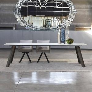 Table de salle à manger en dekton Nayla blanc - Artur
