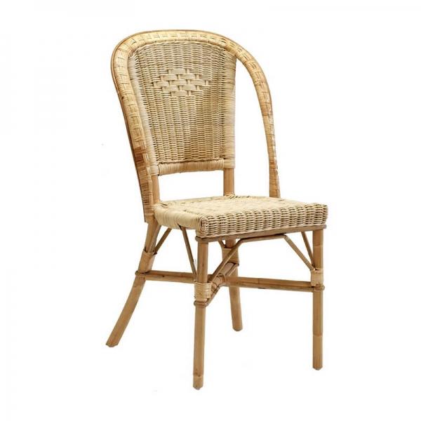 Chaise rétro en rotin - Albertine - 4