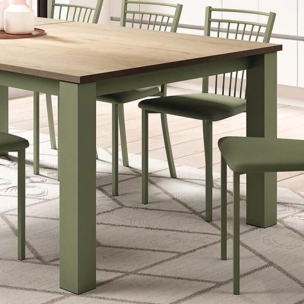 Chaise de cuisine en métal vert et synthétique - Viva - 13