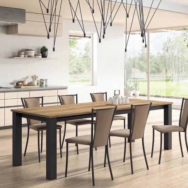 Chaise de cuisine rembourrée en métal et synthétique - Reina - 2
