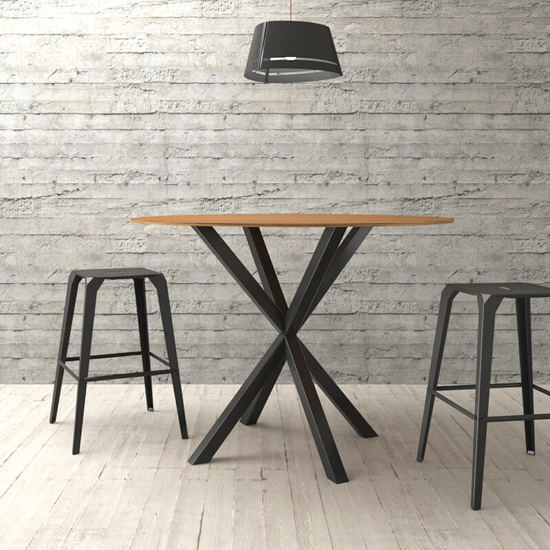 Pied De Table Central Design En Metal Forme Mikado Rosace Carrier 4 Pieds Com