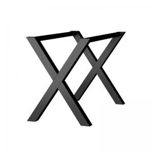 Pied de table design en métal fabriqué en France - X