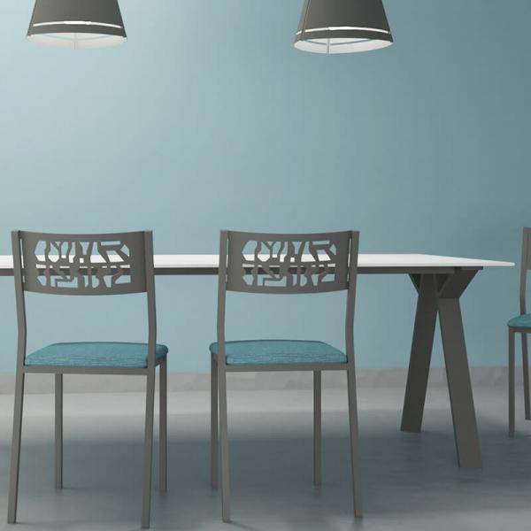 Piétement de table en métal design fabrication française - Wasabi - 4