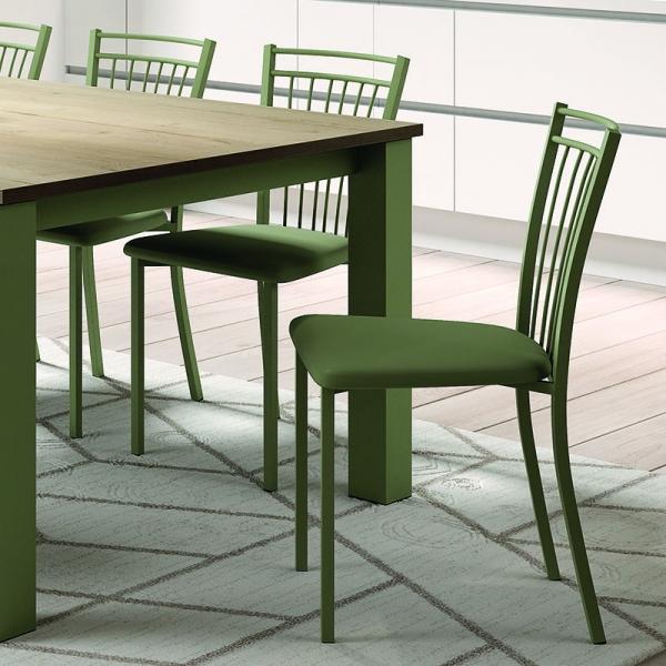 Chaise de cuisine verte - Viva - 11