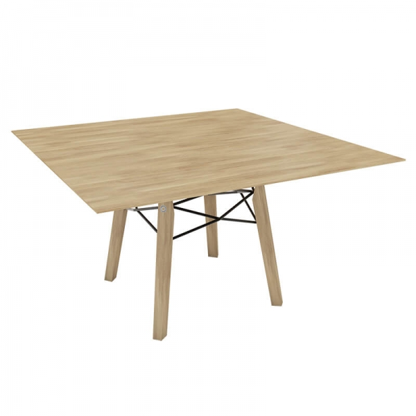 Table design scandinave carrée en bois massif naturel - Gravity Mobitec® - 8