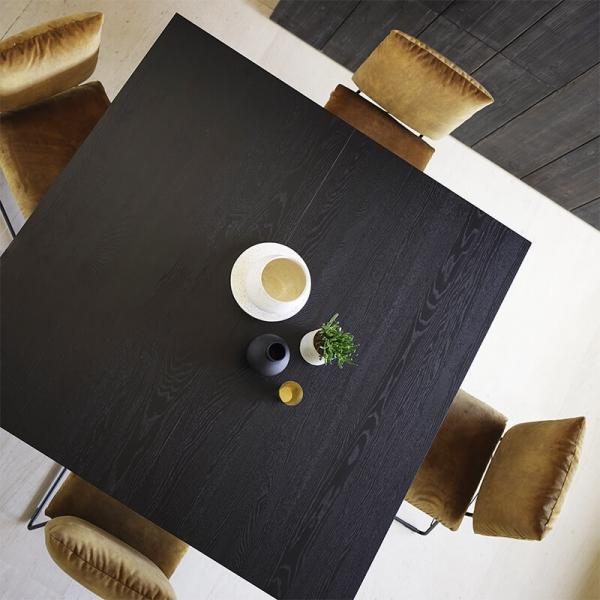 Table moderne  carrée en bois massif noir - Gravity Mobitec® - 3