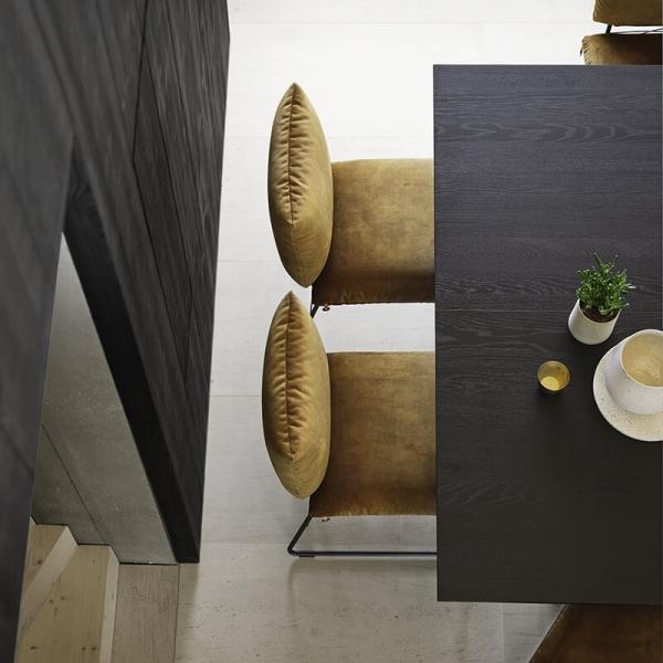 Table tendance carrée en bois massif noir - Gravity Mobitec® - 4