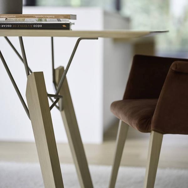 Table de designer carrée en bois massif - Gravity Mobitec® - 6