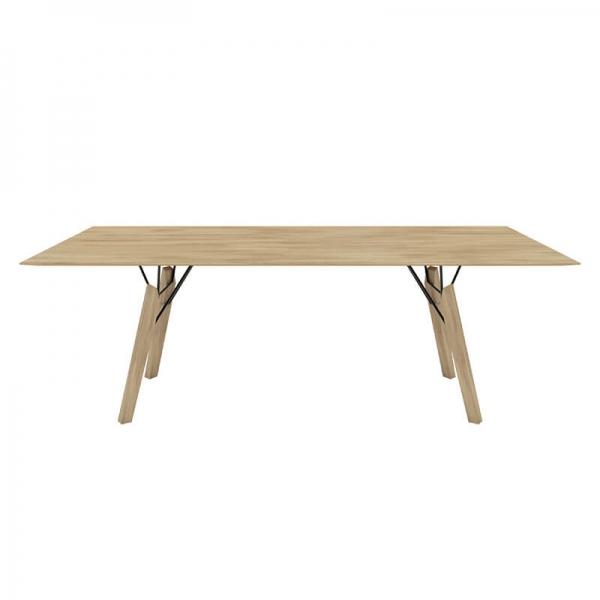 Table tendance rectangulaire en bois massif naturel - Gravity Mobitec® - 6