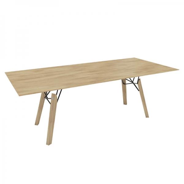 Table design rectangulaire en bois massif naturel - Gravity Mobitec® - 7