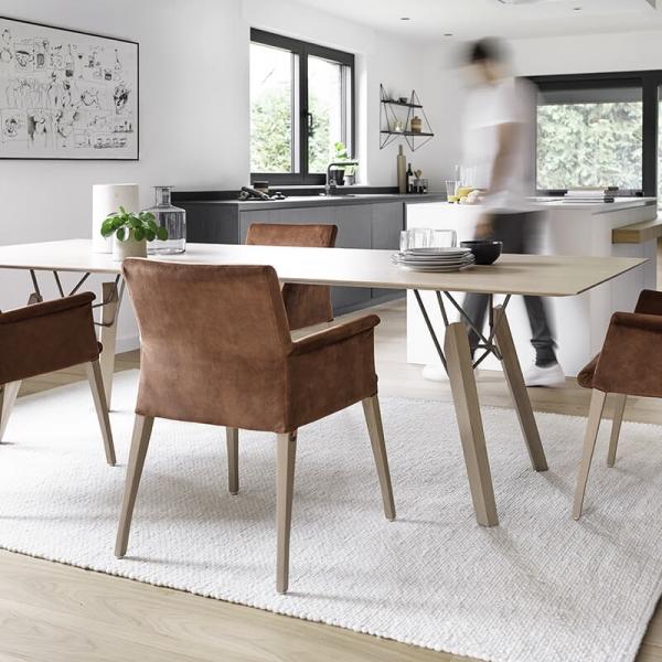 Table design rectangulaire en bois massif - Gravity Mobitec® - 1