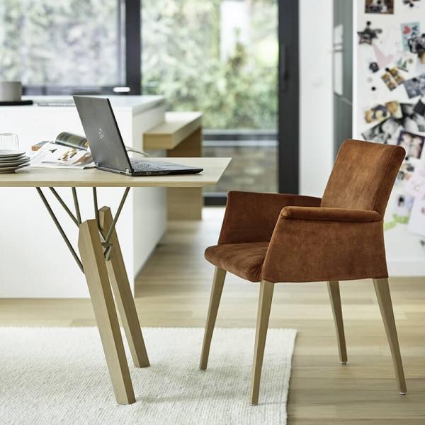 Table de designer rectangulaire en bois massif coloris naturel - Gravity Mobitec® - 2