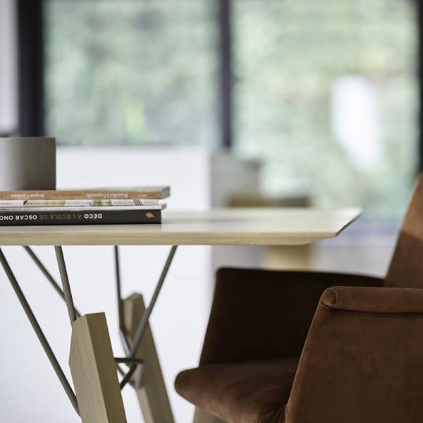 Table design rectangulaire en bois massif - Gravity Mobitec® - 5