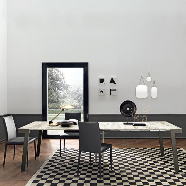 Table console petit espace avec allonges en mélaminé - Astoria - 5
