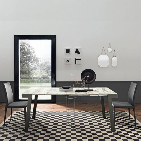 Table console petit espace extensible en mélaminé - Astoria - 4