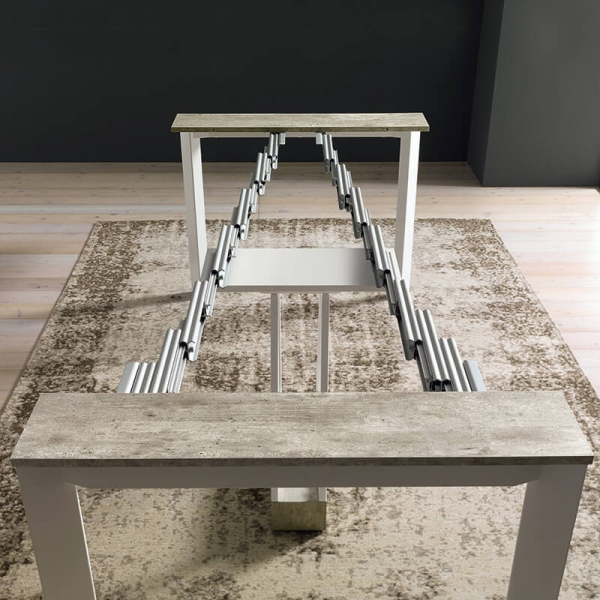 Table console avec allonges transformable en table - Trek - 10