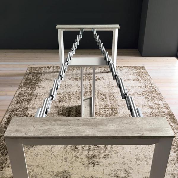 Table console extensible en mélaminé - Trek - 11