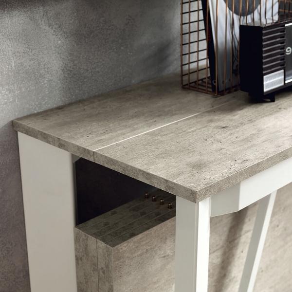Table console avec allonges en mélaminé - Trek - 12