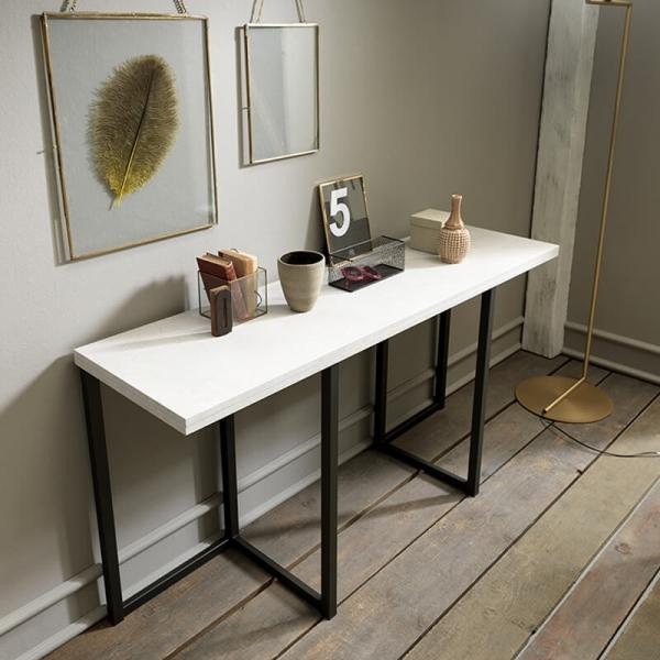 Table console extensible en mélaminé - Flap - 1