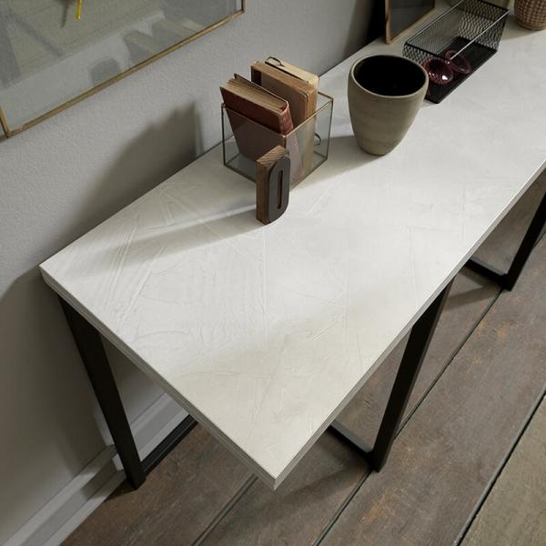 Table console en mélaminé avec allonges - Flap - 4