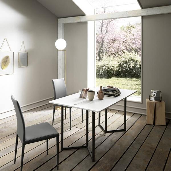 Table console avec allonges en mélaminé - Flap - 5