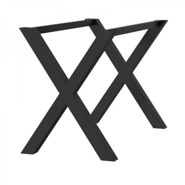 piétement de table design en métal fabriqué en France - X - 2