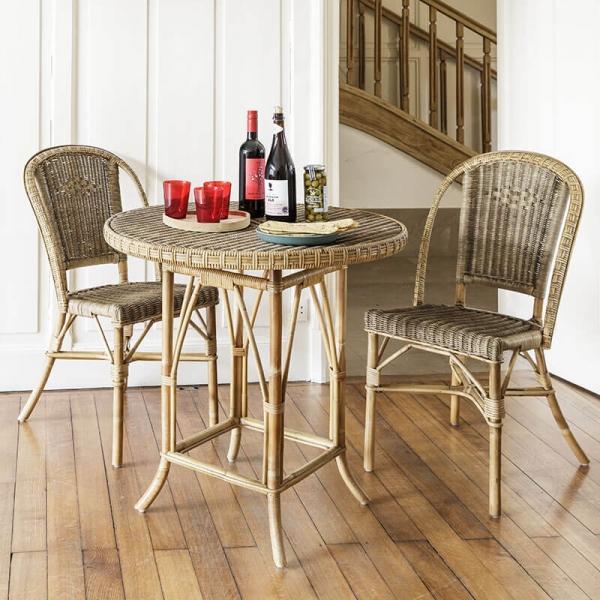 Chaise en rotin vintage - Albertine - 1