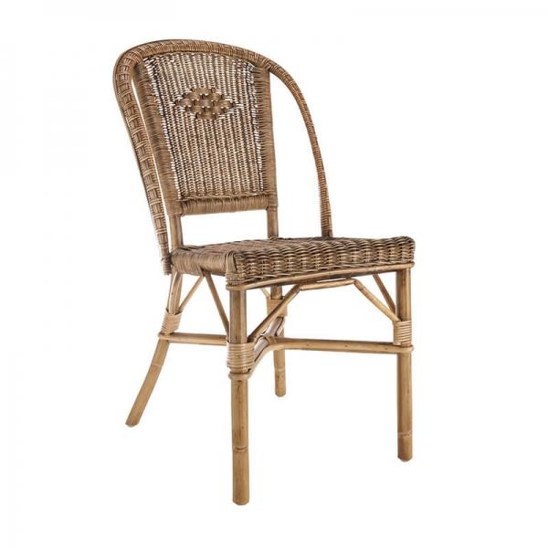 Chaise vintage en rotin - Albertine - 2