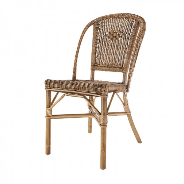 Chaise rustique en rotin - Albertine - 3