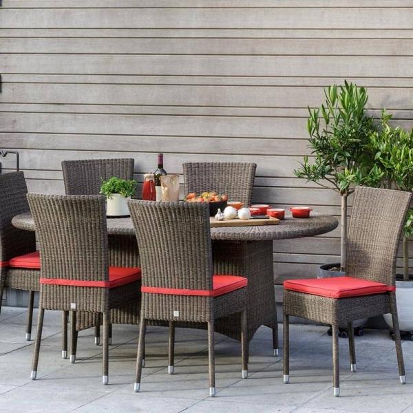 Chaise de terrasse tressée en résine effet chiné - Isabelle - 2