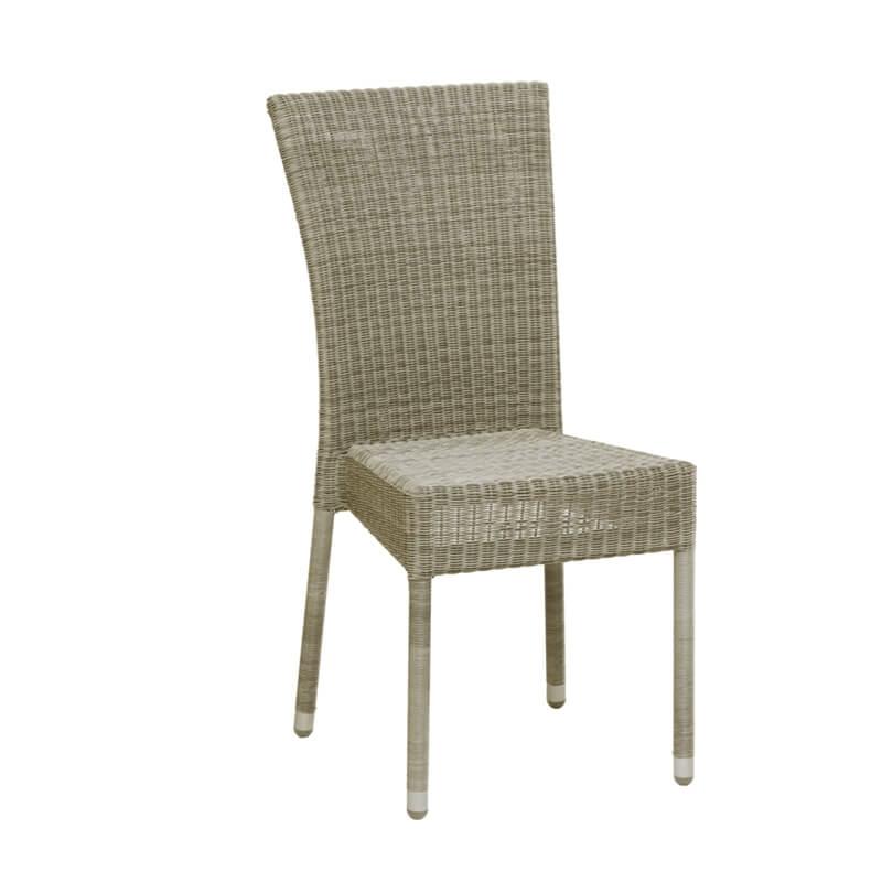 Chaise de jardin tressée en résine effet chiné - Isabelle