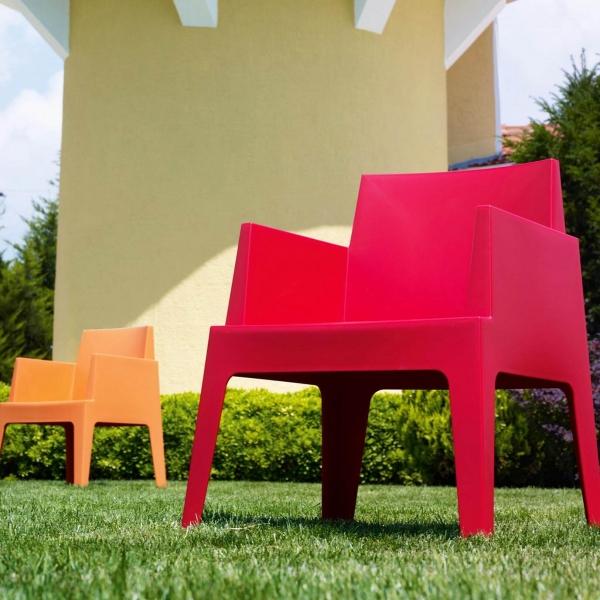 Fauteuil design de jardin en polypropylène Box 26 - 5