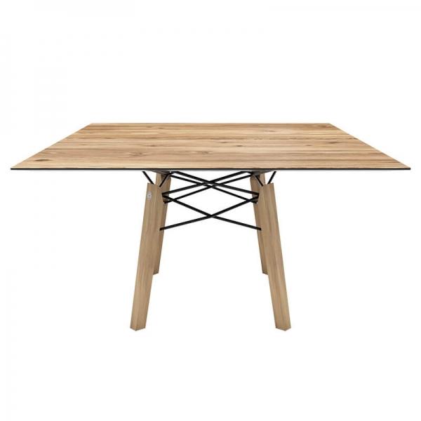 Table tendance vintage carrée en placage bois - Gravity Mobitec® - 2