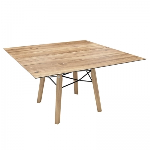 Table design carrée en placage bois - Gravity Mobitec®