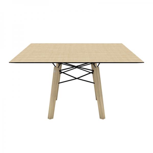Table moderne carrée en placage bois - Gravity Mobitec® - 3