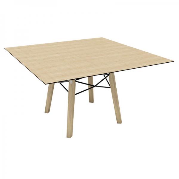 Table design carrée en placage bois - Gravity Mobitec® - 4
