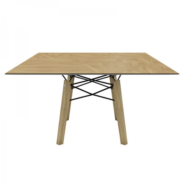 Table design carrée en placage bois - Gravity Mobitec® - 5