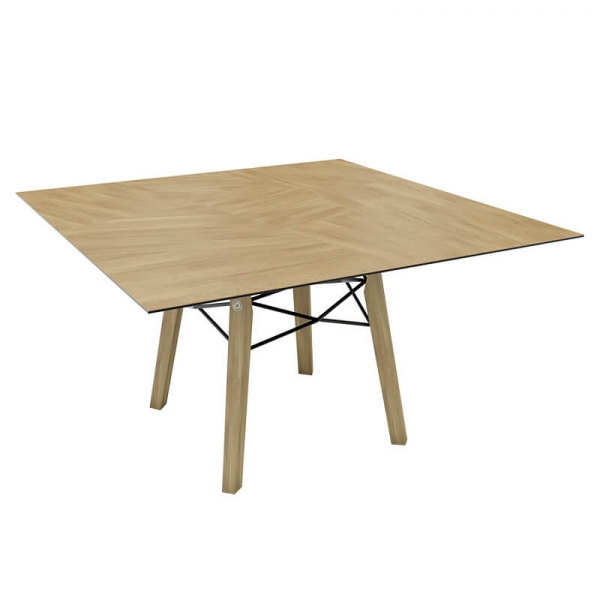 Table design carrée en placage bois - Gravity Mobitec® - 6